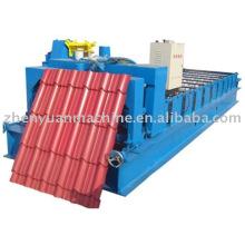 Máquina de fabricação de azulejos, máquina de cobertura de telha vitrificada popular, linha de formação de rolo de folha