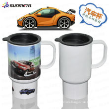 Directly Factory Hot Selling Sunmeta New Arrival sublimation plastic travel mug car mug