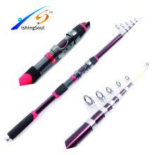 TSR066 télescopique bâton moche canne à pêche en fibre de verre télescopique pôle