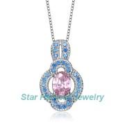 Fashion High Quality CZ 925 Silver Jewelry Pendant (SH-0129N)