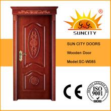 Porta de madeira maciça de alta qualidade