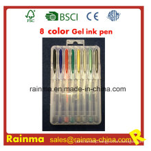 8 Color Gel Ink Pen in PP Box