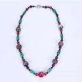 Новейшие красочные ожерелье крашеный Агат