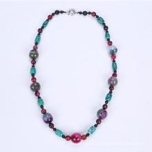 Neueste bunte Halskette Achat gefärbt