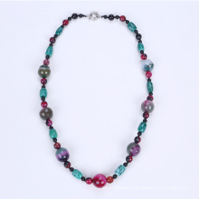 Newest Colorful Necklace Dyed Agate