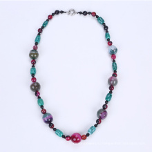 Новый цветной ожерелье окрашенных агат