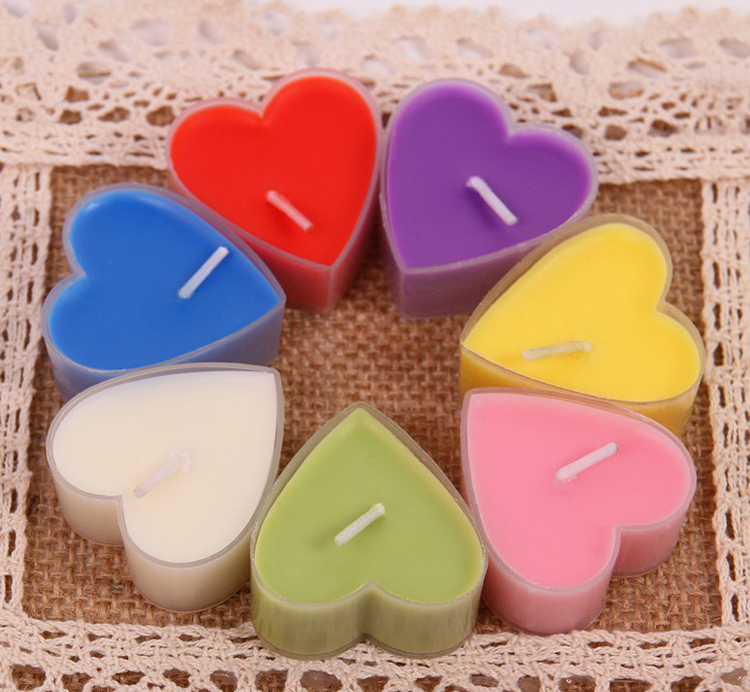 heart shpe candle