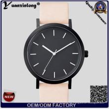 Yxl-317 Cara Negra Relojes de pulsera Reloj de señoras Reloj Correa de cuero más caliente El reloj de caballos