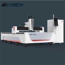 Máquina de corte por láser de tubo y fibra de placa de metal.