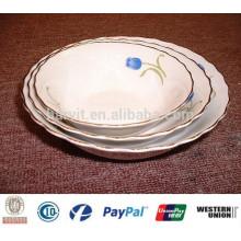 Tazón de sopa de porcelana barata