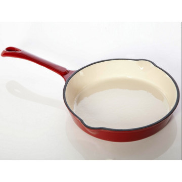 hot sales cast iron enamel fry pan/skillet with oil mouth