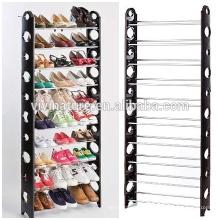 Organisateur de stockage de support de chaussure de 50 paires, 2 à 10 rangées de haute qualité portatif chaussures placard