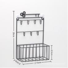 Art simple keys hooks home wall holders wall decor iron frame hanger shelf