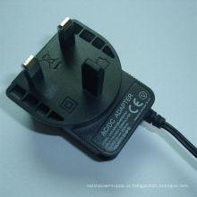 Adaptador de alimentação de plugue 12V1000mA UK BS