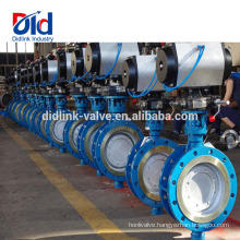 Application Ace Damper Shut Off Actuator Pneumatic Hard Sealing Flange Type Butterfly Valve 8 Inch