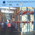 Único rack de armazenamento de paletes de armazenamento profundo