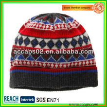 Ethnic knitted wool beanie hat novelty BN-2649