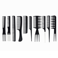 Wholesale 10 Pieces Salon and Home Use Plastic Barber Hair Styling Comb Sets