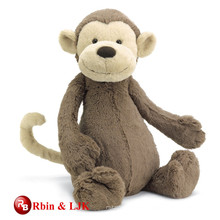 Grey color super soft plush monkey toys