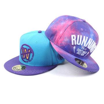 Chapéu feito sob encomenda do Snapback do chapéu novo / chapéu do Snapback de Hip Hop e tampão / chapéus lisos do Snapback de Bill
