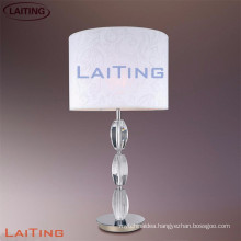 Crystal bead table lamp fabric lamp shade