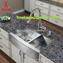Cupc estilo americano dos eua fazenda artesanal de aço inoxidável 304 duplo igual tigela avental da cozinha pia da frente