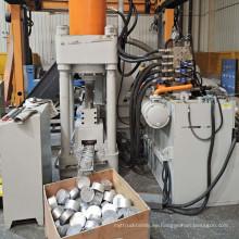 Virutas de aluminio virutas de virutas de virutas de la máquina de briquetas hidráulicas