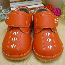 Orange Baby Boy Shoes Squeaky Shoes