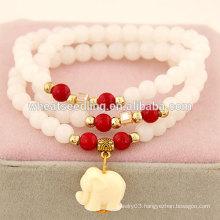 Fashion beaded rubber band bracelet patterns