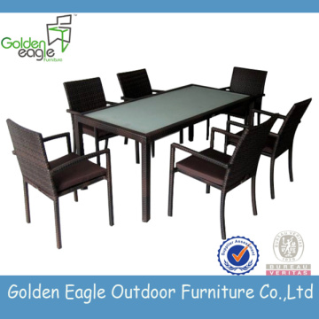 Rattan Dining Tables Wicker Balcony Furniture Set