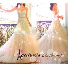 2016 Vestido de noche moderno del partido del vestido de boda de Brial con alta calidad