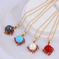 30954 Xuping simple design gold color shell pearl pendant for women