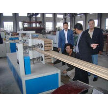 Twin Screw WPC Profile Extrusion Line / Equipment For Wood