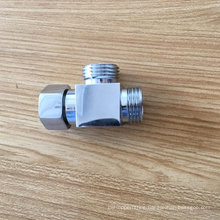 Bathroom square shape pipe shower hose connecting adapter
