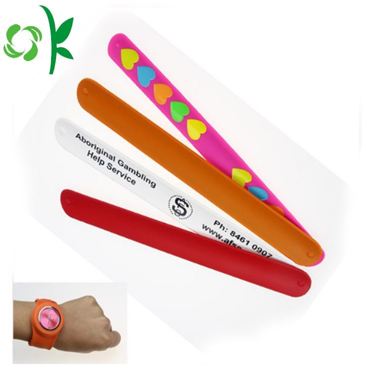 Silicone Magnetic Slap Wristbands