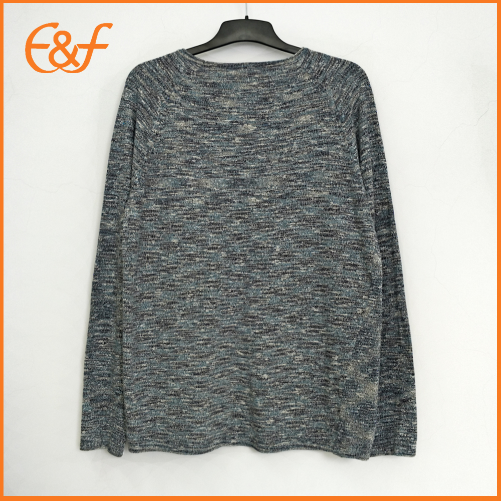 Mix yarn knitted sweater