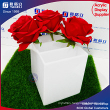 Wedding Decoration Acrylic Flower Display Container with Lid