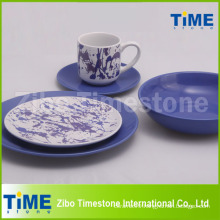 Color Glazed and Decal Dinner Set