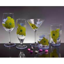 Handgemaltes Weinglas, handbemalter Glasbecher, Bierglas