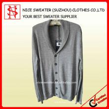 El suéter 100% de los hombres de la rebeca de las lanas de los merions