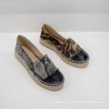 2014 Fabrik direkt verkaufen niedlichen weiblichen Banded Flats Schuhe Segeltuchschuhe Freizeitsport Kombination Espadrille