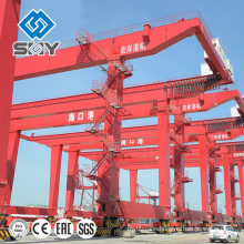 RMG rail mounted container gantry crane prices , China manufacturer