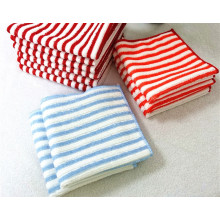 Microfiber Warp Stripe Towel for Kitchen Cleaning