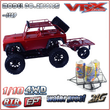 1/10 scale brushless electric rc jeep car, new design of monster truck