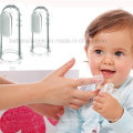 Soft Transparent Silicone Finger Toothbrush for Baby