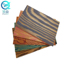 QINGE 1220x2440x7.5MM Larch Brushed Veneer Faced Plywood Board