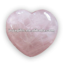 Puffy Heart shaped rose quartz birthday stone35MM