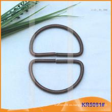 Tamaño interior 40mm Metal Hebillas, Regulador de metal, Metal D-Ring KR5081
