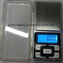Электронная цифровая карманная шкала 500 г / 0,1 г