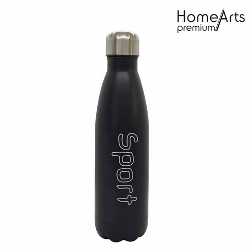 Double wall insulated cola shape thermos water bottle